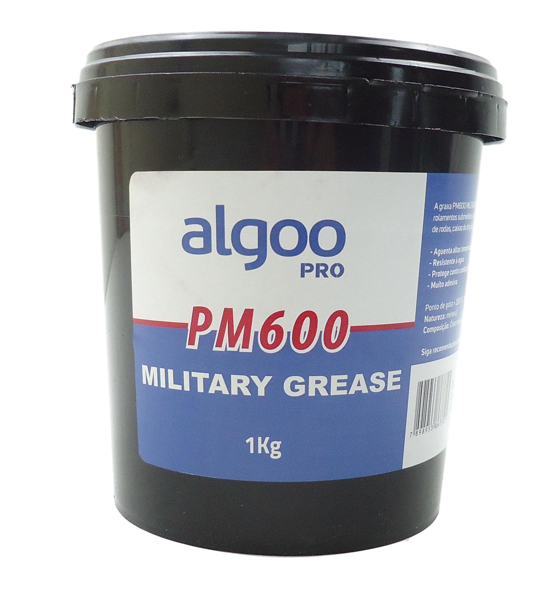 Graxa PM600 Military Grease Algoo Pro 1000 gramas para Suspensão E Rolamentos Bicicletas 1 Kg Vermelha