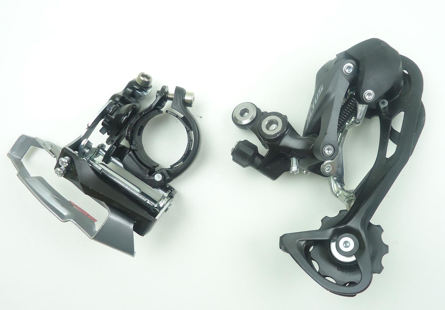 Grupo MTB Shimano Altus M2000 3x9v Pedivela Integrado 175mm Cassete 11-36