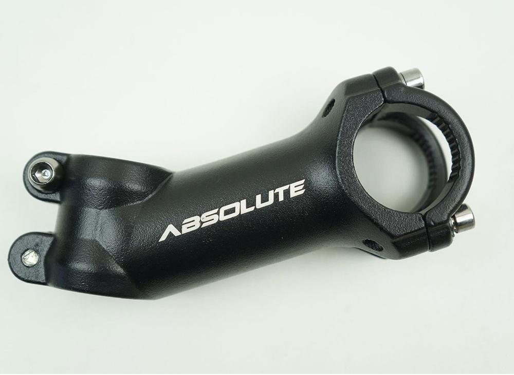 Guidão Bicicleta MTB Absolute Alumínio 720mm Reto Flat + Mesa Avanço 90mm 31.8mm 22º de Inclinação Negativa