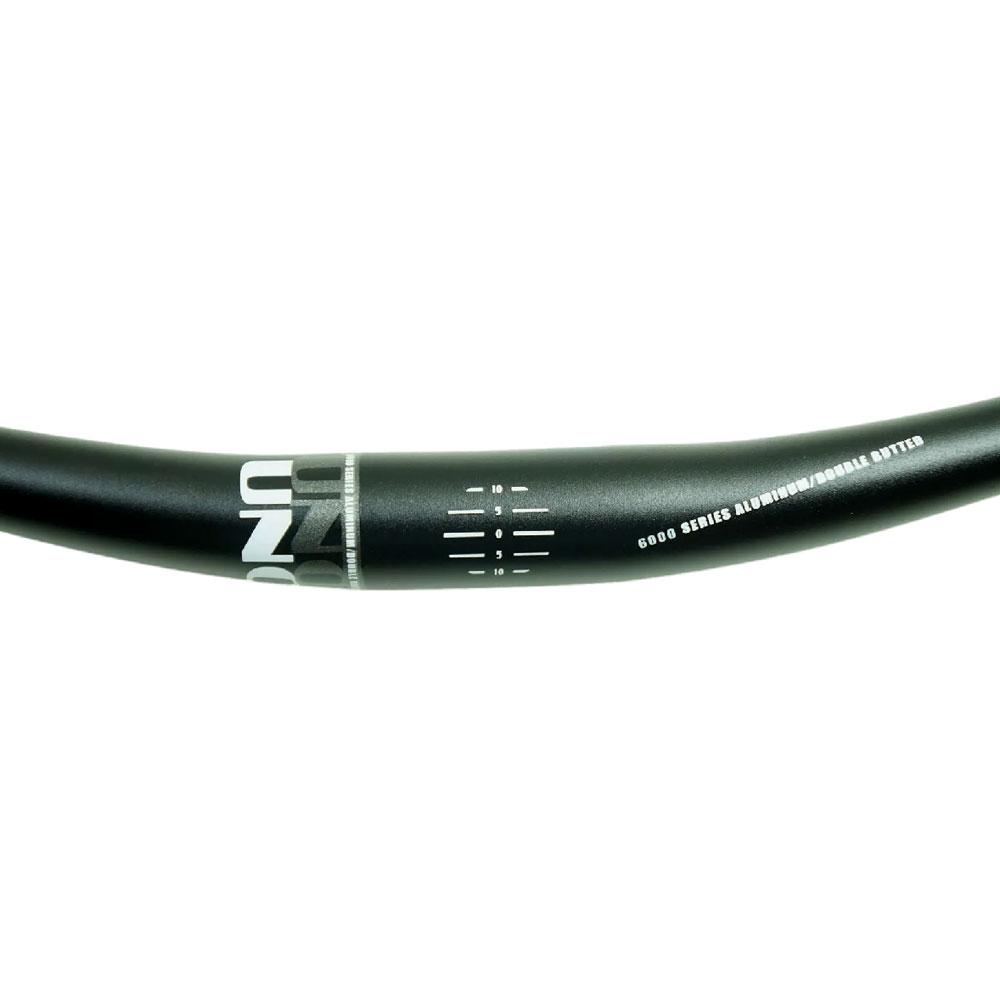 Guidão Bicicleta Mtb UNO Alumínio 720mm 31.8 Riser Curvo Preto 296 gramas