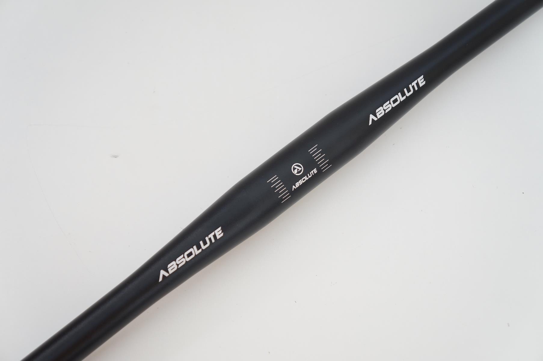 Guidão Bicicleta Mtb Absolute em Alumínio 720mm 31.8mm Reto Flat Cor Preto 353 gramas