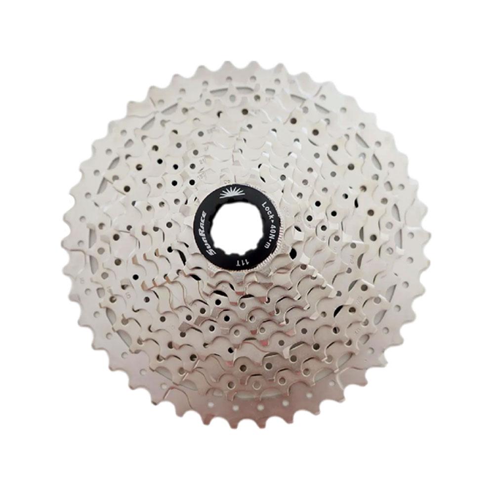 Kit Cassete Bike Sunrace MS3 11-42 D 10 V e Corrente TEC 10 V Padrão Shimano