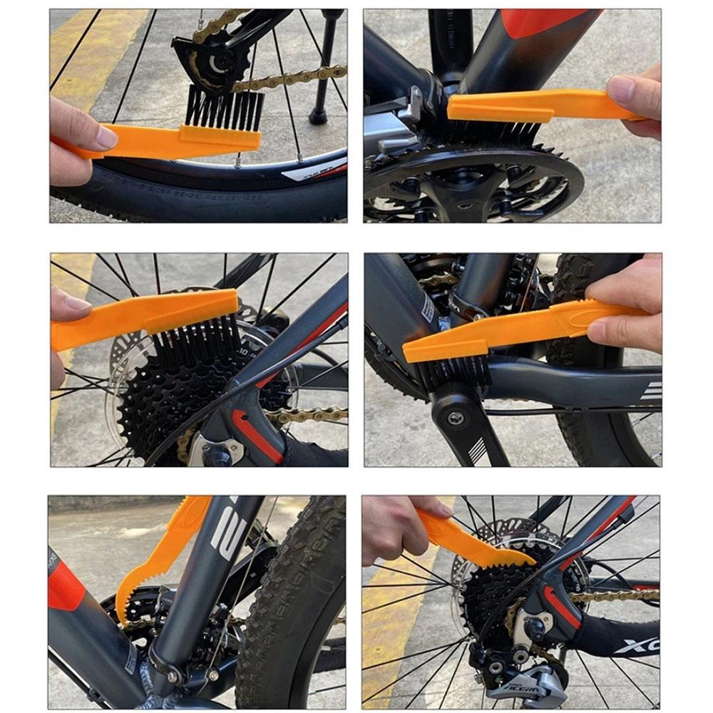 Kit de Escovas JWS com 6 peças Limpeza Bicicleta Quadro Transmissão e Rodas
