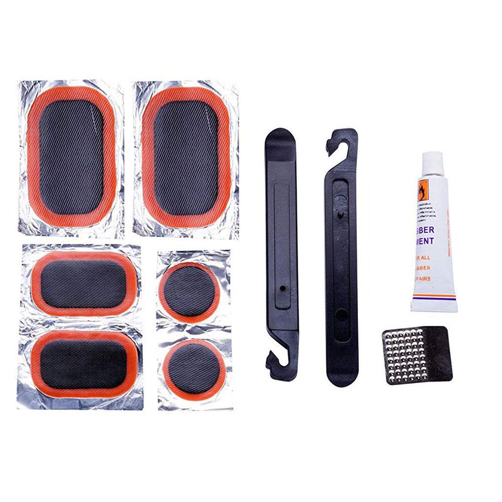 Kit de Reparo Pneus com Câmara de ar com Mini Bomba Pump Bico Duplo 100psi