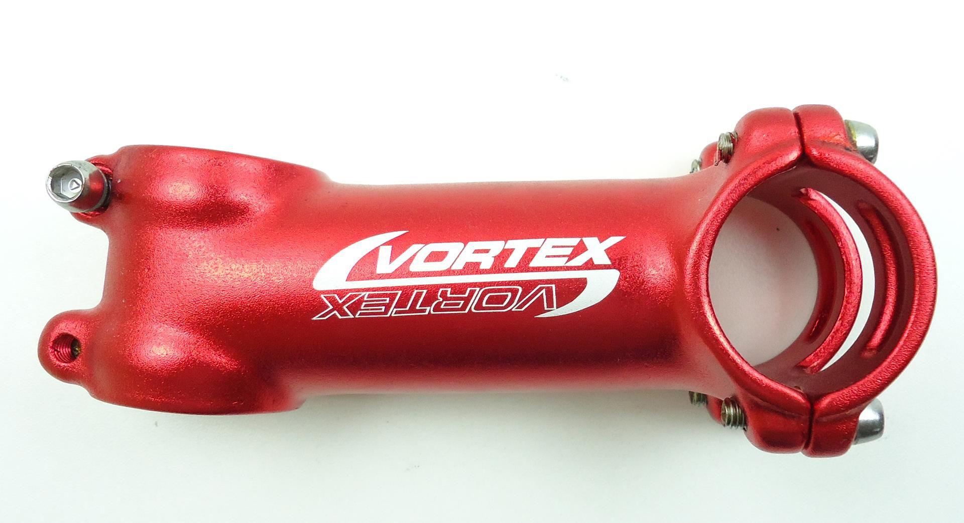 Kit MTB Vortex Guidão 710mm + Mesa 100mm 31.8mm em Aluminio Cor Vermelha