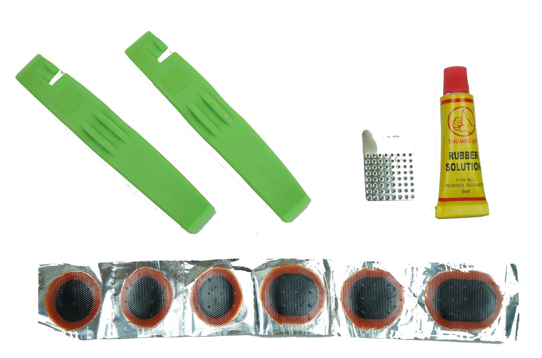Kit Reparo para Bicicletas Estojo de Remendo Para Pneu com Câmara de ar Com Espatulas