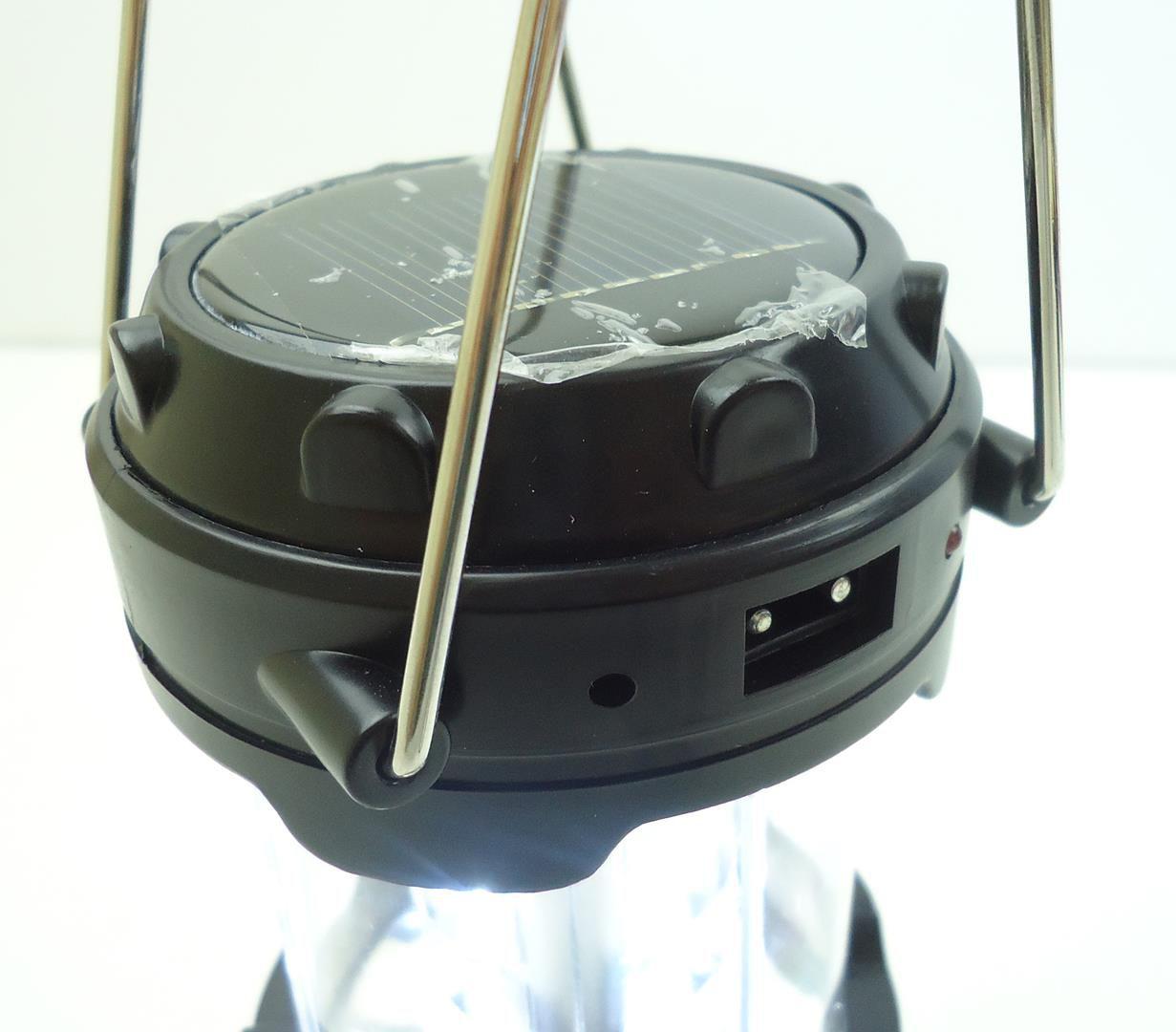Lampião de Luz Led JWS WS-85 Recarregável por Energia Solar e Entrada USB