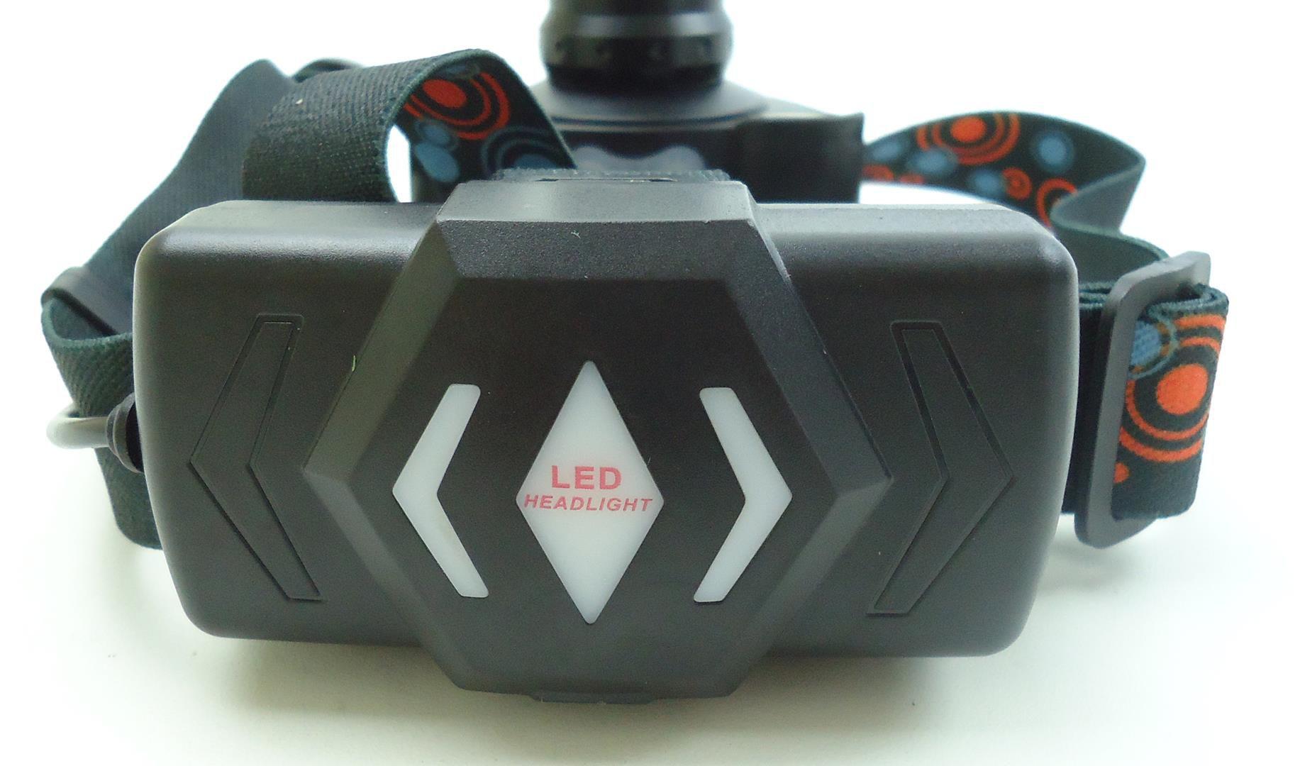 Lanterna Farol De Capacete com 3 Super Leds com Sensor JWS JY-8864 Recarregável Fixação Na Cabeça