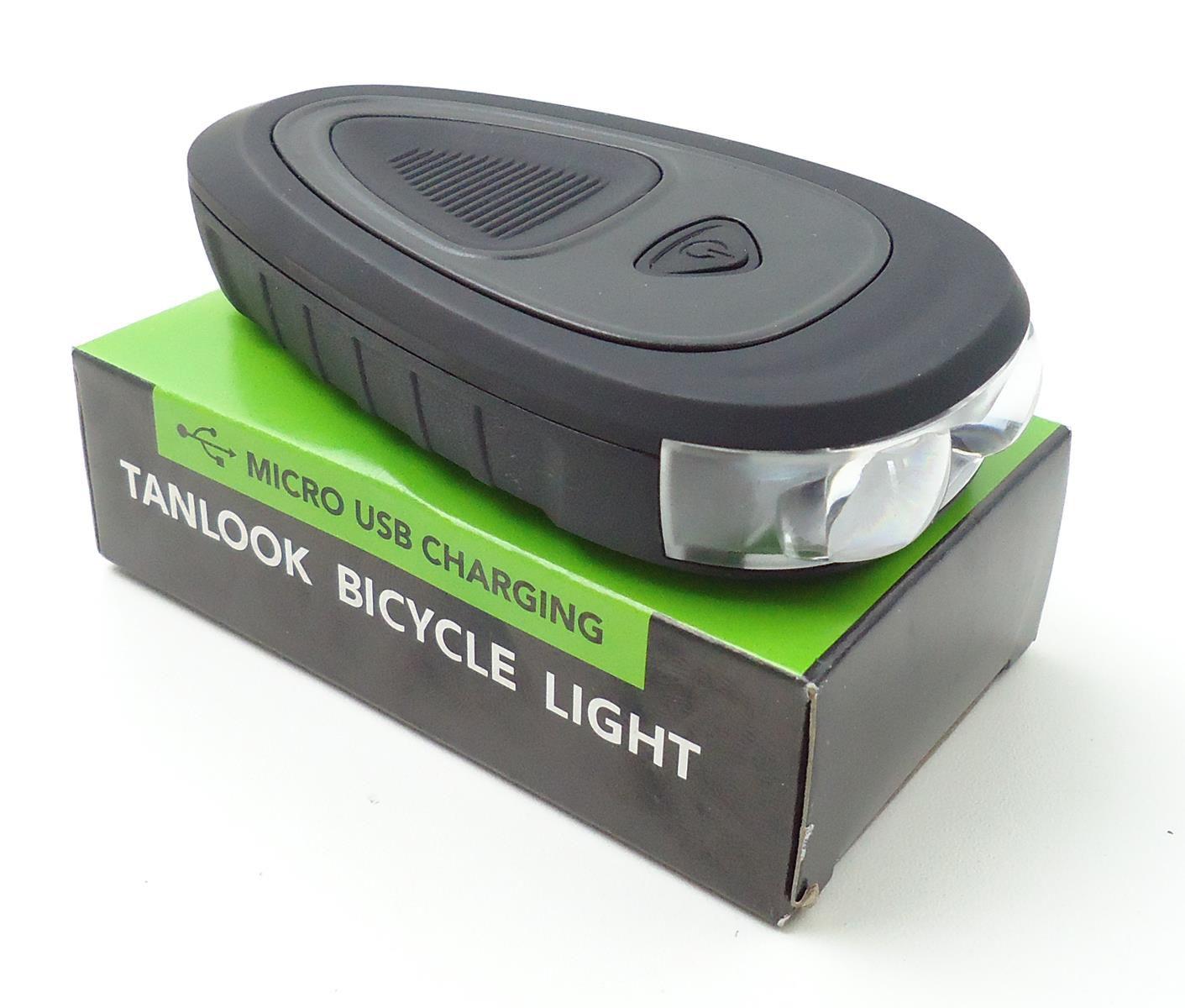Lanterna Farol Dianteiro com Buzina para Bicicleta JWS WS-150 com Led 250 Lúmens Recarregável