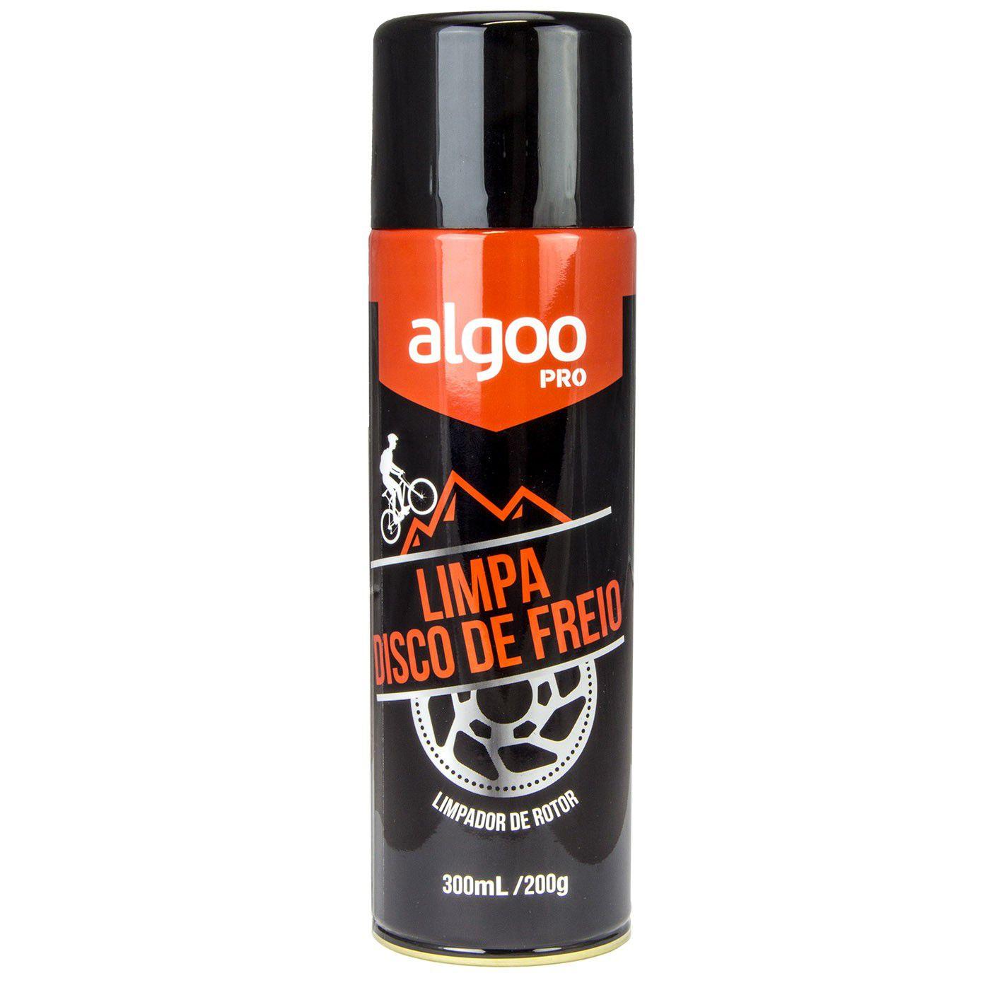 Limpa Disco de Freio Rotor Algoo Pro 300ml para Bicicletas Motos