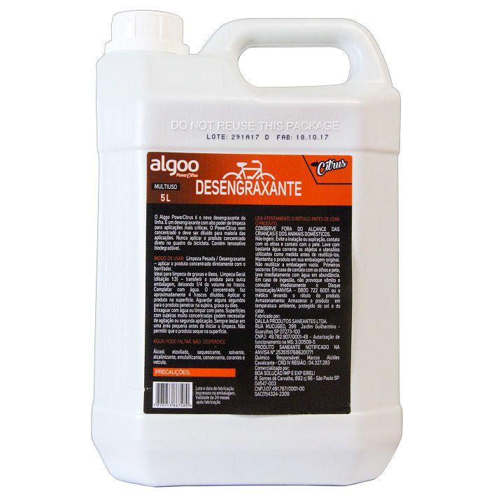Limpador e Desengraxante Multi-Uso Algoo PowerSports Citrus Galão com 5 litros