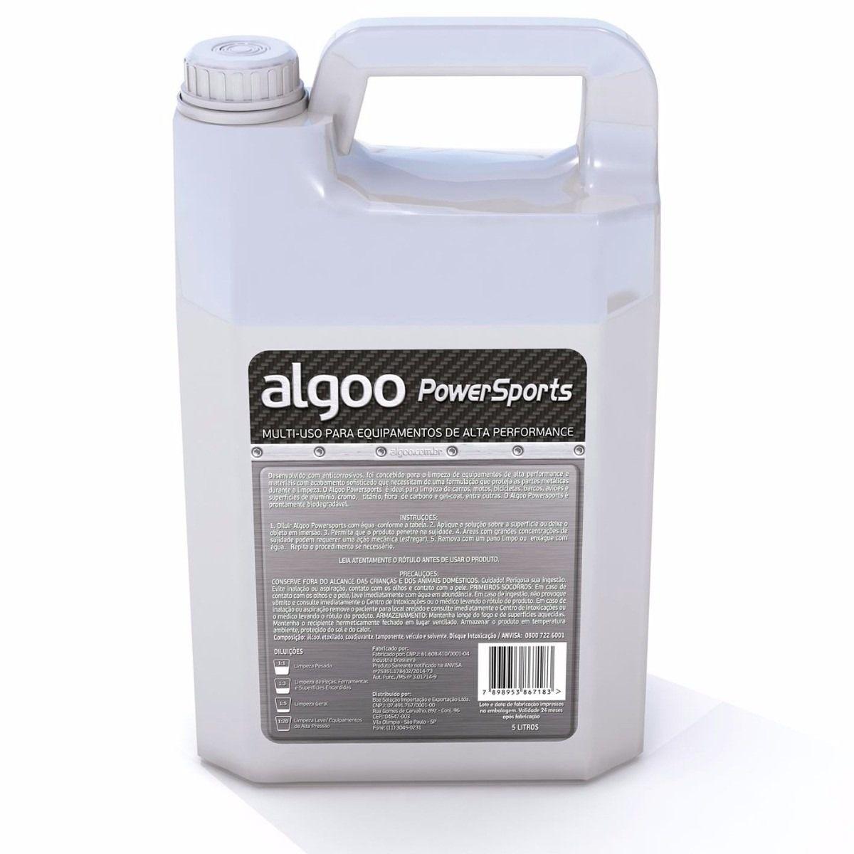 Limpador e Desengraxante Multi-Uso Algoo PowerSports Galão com 5 litros