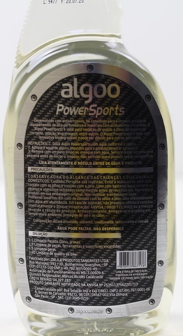 Limpador e Desengraxante Multi-Uso Algoo PowerSports Refil com 700ml
