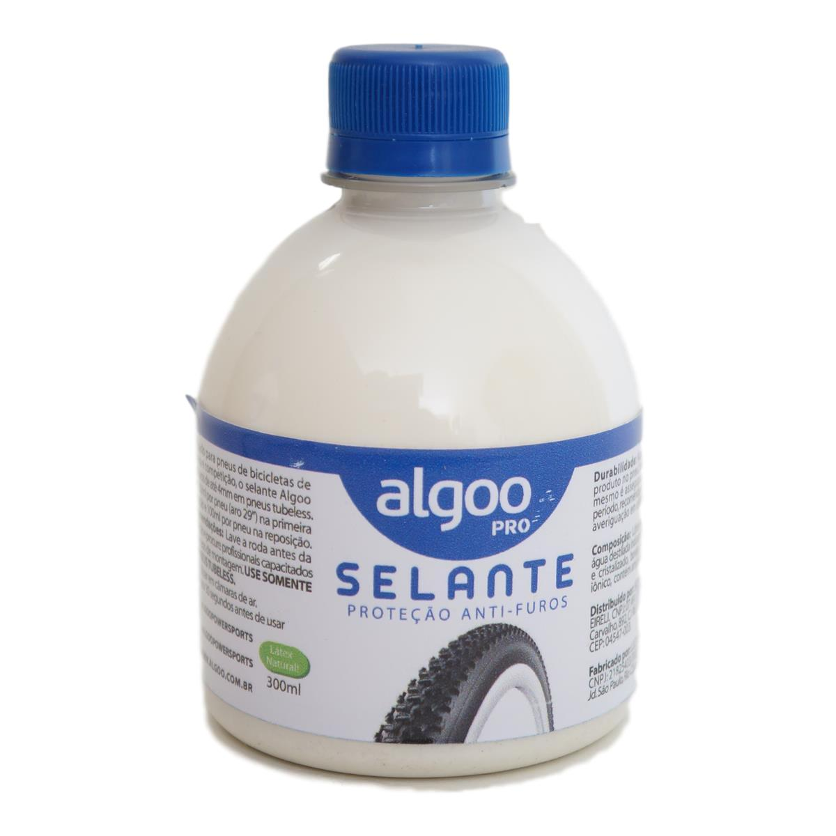 Líquido Selante Tubeless Algoo Pro com 300ml para Bicicletas MTB Speed