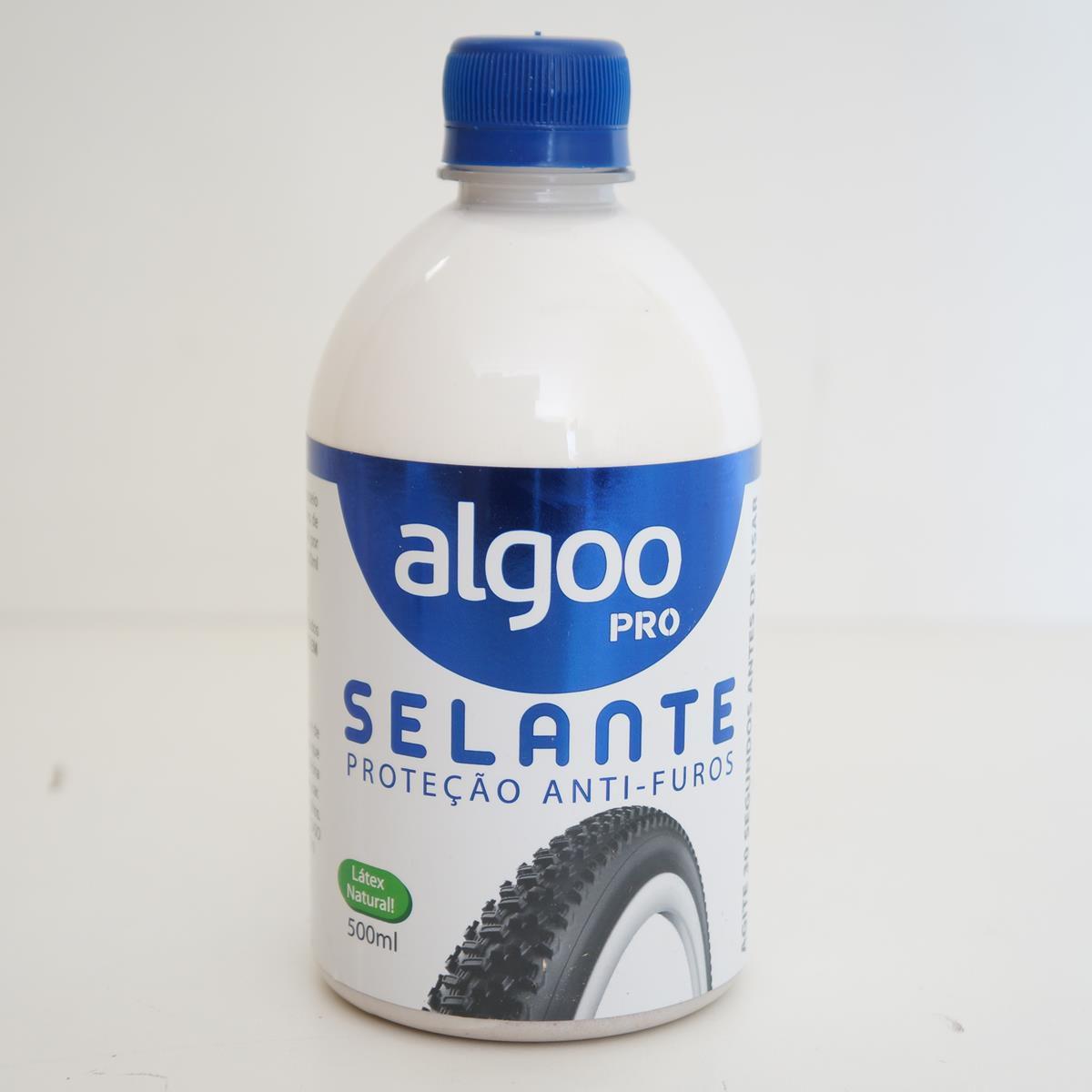 Líquido Selante Tubeless Algoo Pro com 500ml + Kit Reparo Macarrão