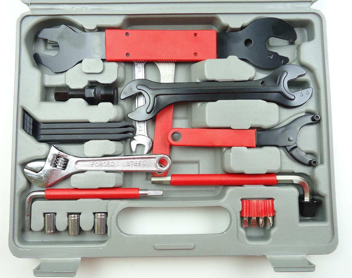 Kit de Ferramentas Profissional JWS com 44 Peças Para Manutenção de Bicicletas com Maleta