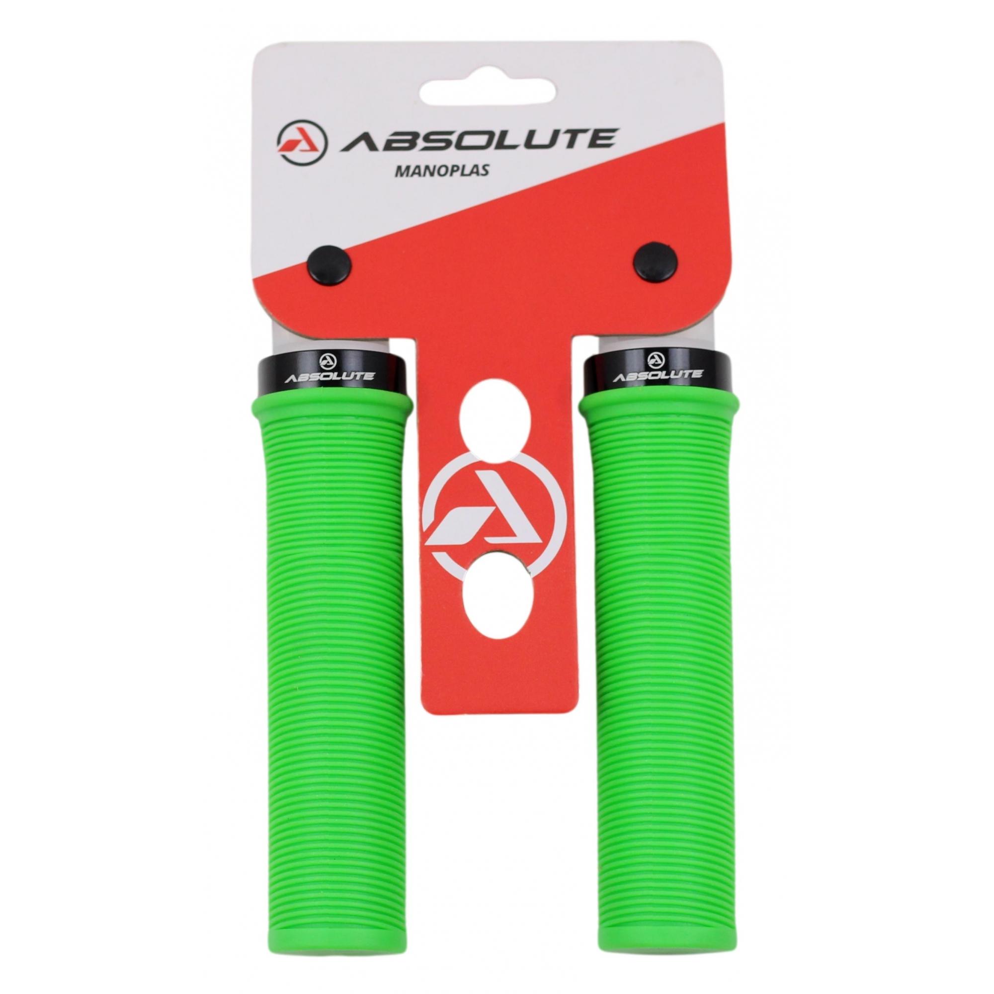 Manopla Bicicleta Absolute LG1 Lock Grip Em Borracha Com Trava de Alumínio Várias Cores