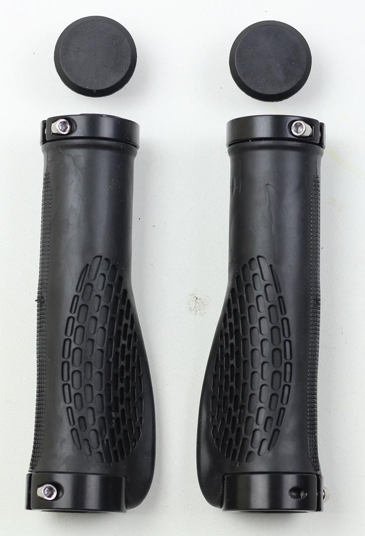 Manoplas Ergonômicas Kode para Bicicletas Preto com Travas Cor Preta