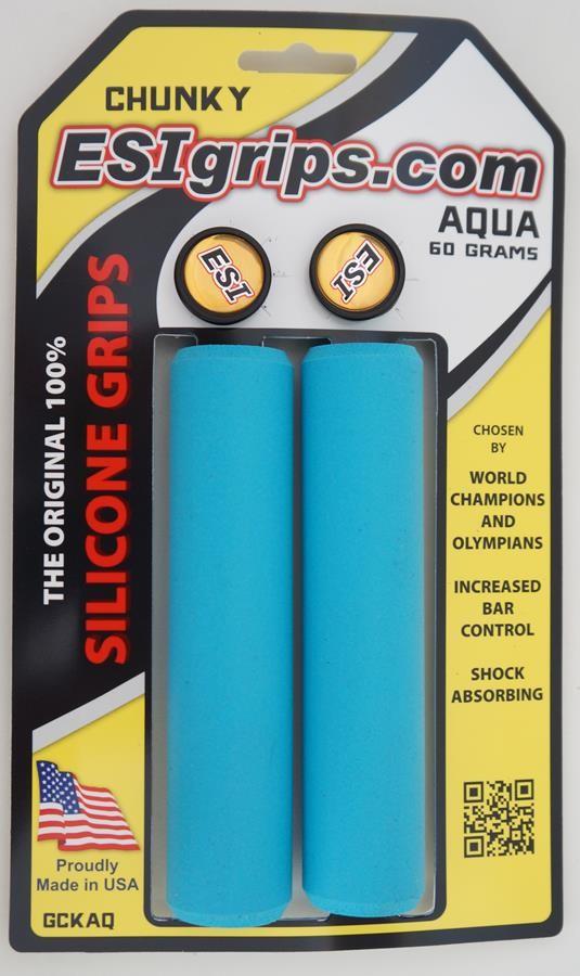 Manoplas Mtb Esi Grips Chunky 32mm  Azul claro 60 Gramas