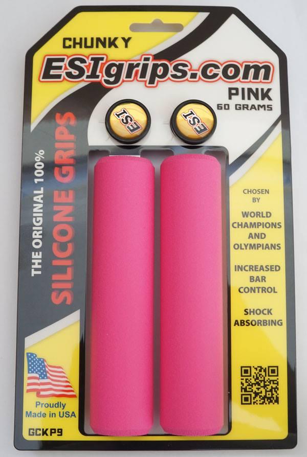 Manoplas Mtb Esi Grips Chunky 32mm  Rosa 60 Gramas
