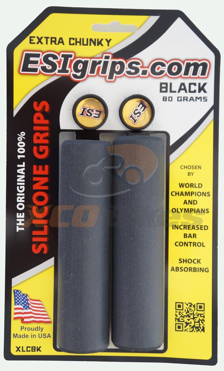 Manoplas Mtb Esi Grips Extra Chunky 34mm Preta 80 Gramas