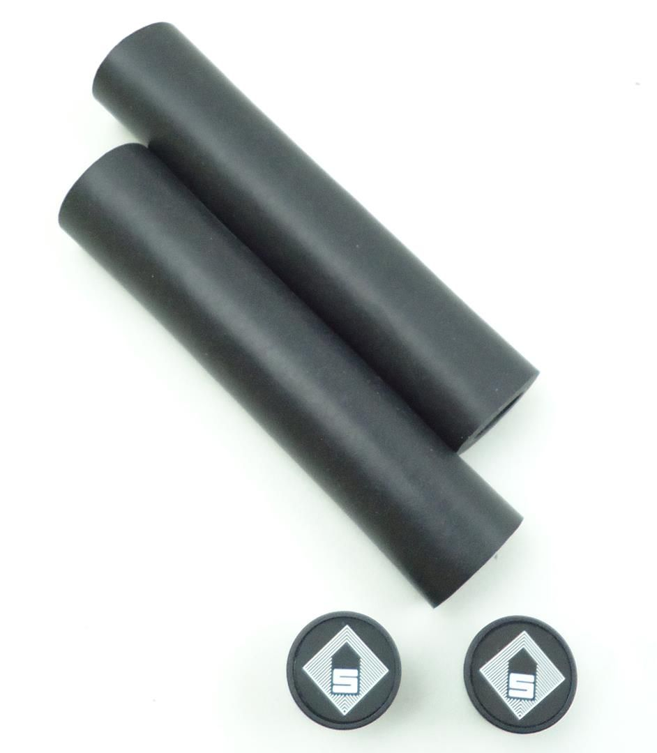 Manoplas Session para MTB em Silicone 32mm Cor Preta 75 Gramas