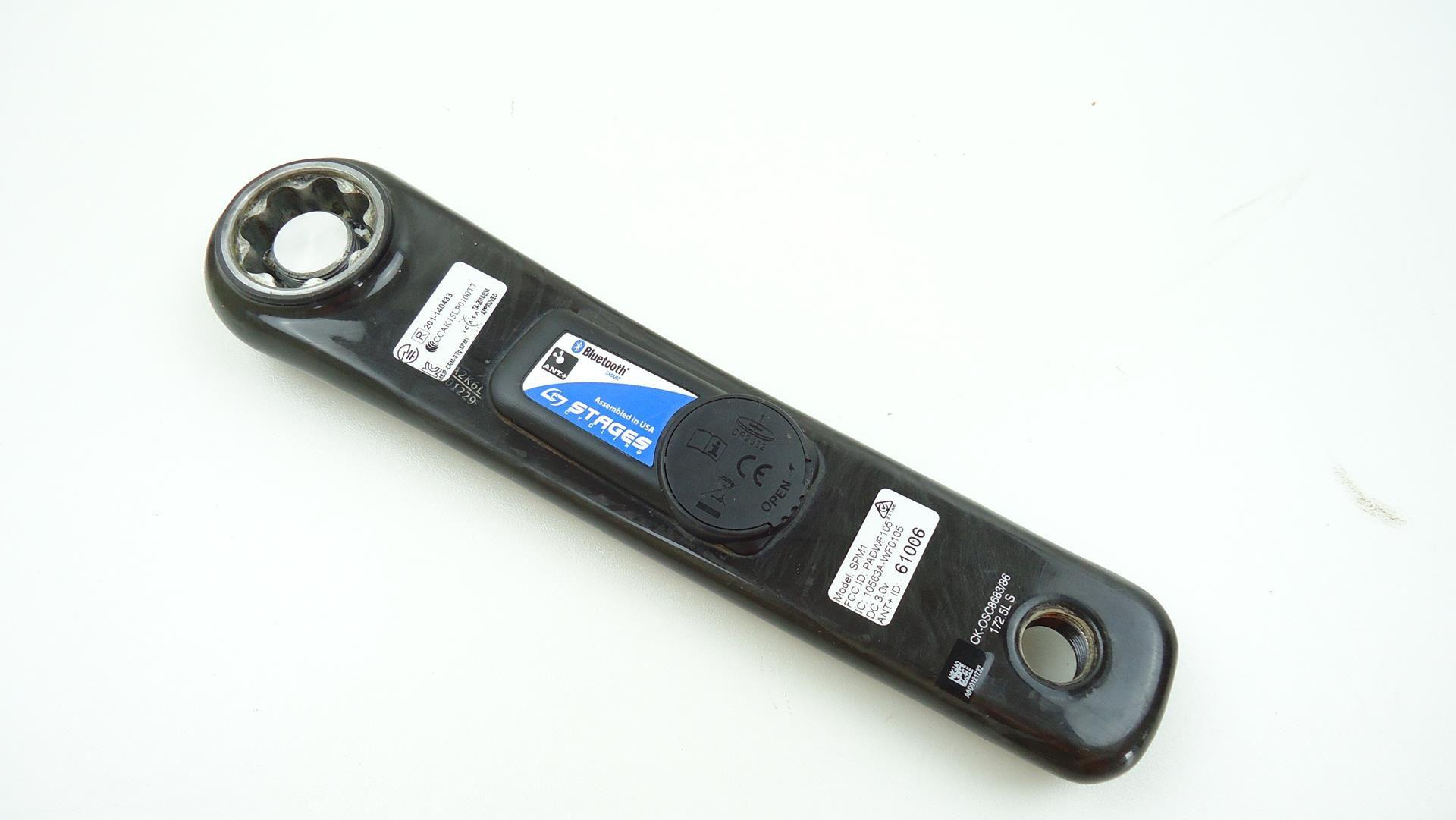 Medidor de Potência Stages Para Sram Fsa 172.5mm Braço em Carbono Powermeter - USADO