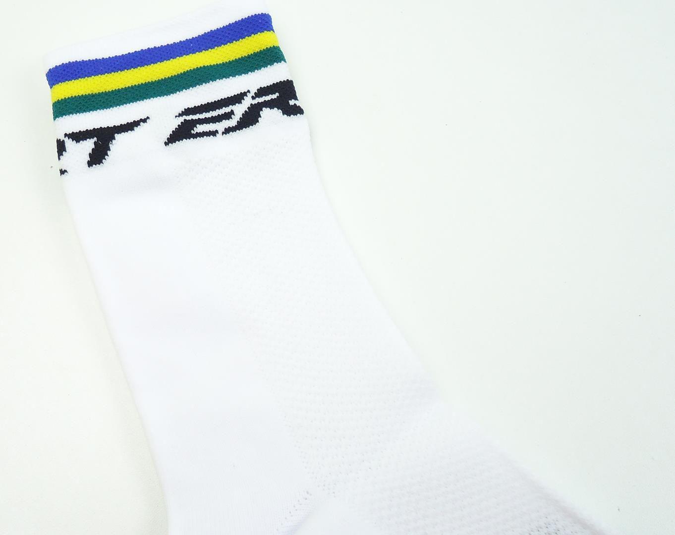 Meias para Ciclismo ERT Xtreme Cool Cores do Brasil MTB e Speed