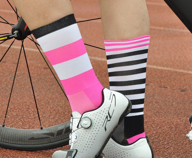 Meias para Ciclismo Coloridas MTB e Speed Cano Longo com Compressão Média