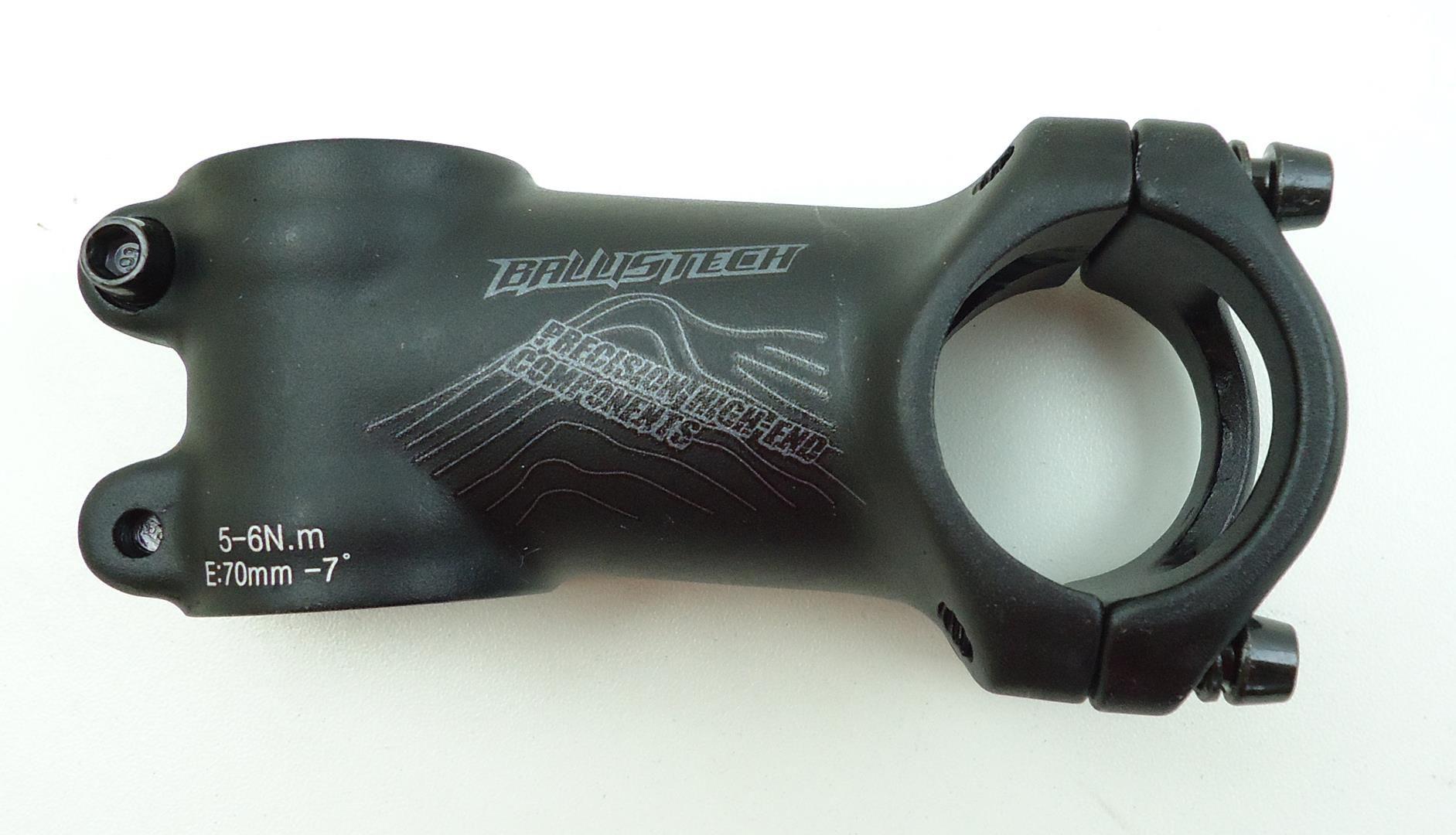 Mesa Avanço Bicicleta Mtb Ballistech 70mm 31.8mm 7º De Inclinação Preta em Scandium