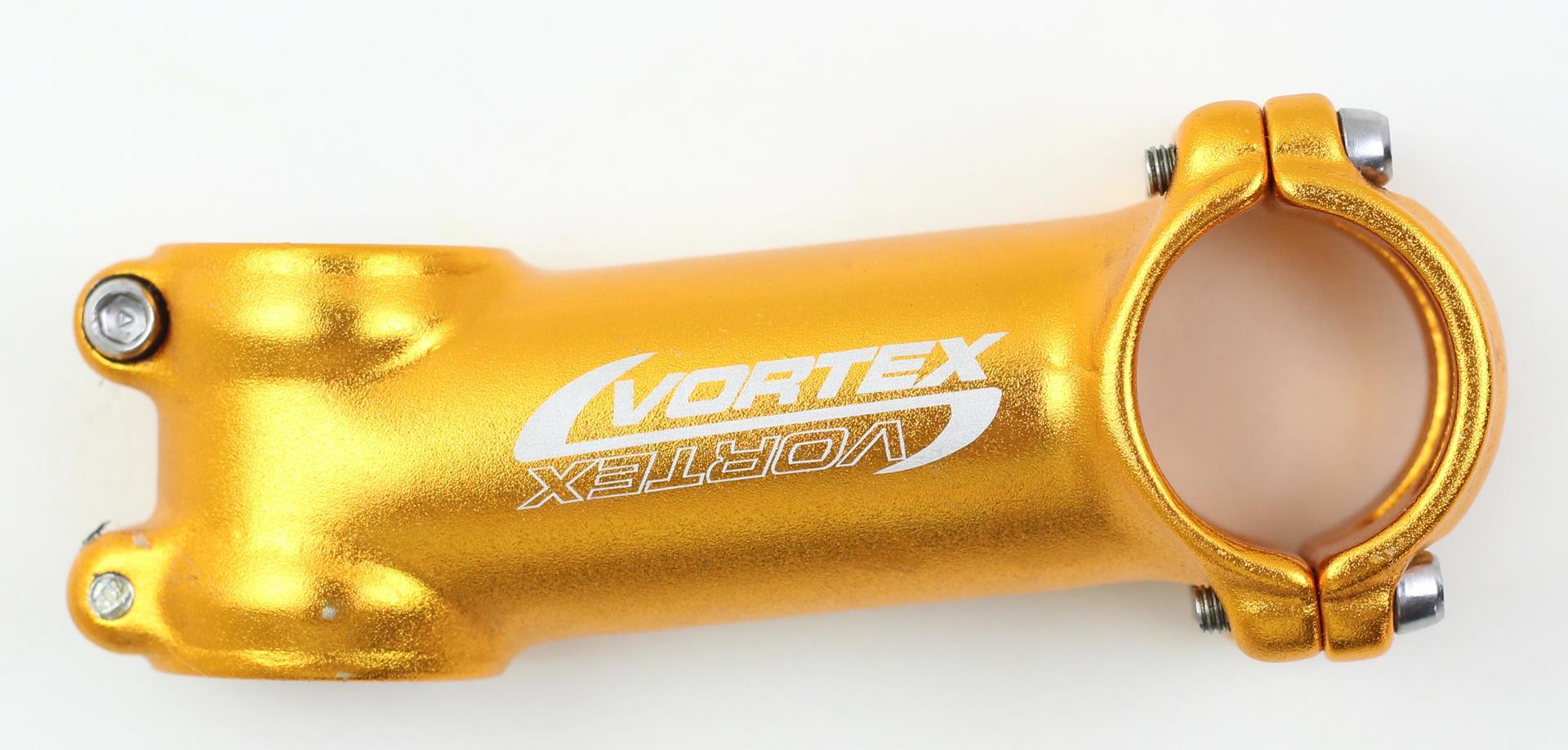 Mesa Avanço Bicicleta Mtb Vortex 90mm 31.8mm 8º De Inclinação Cor Dourada