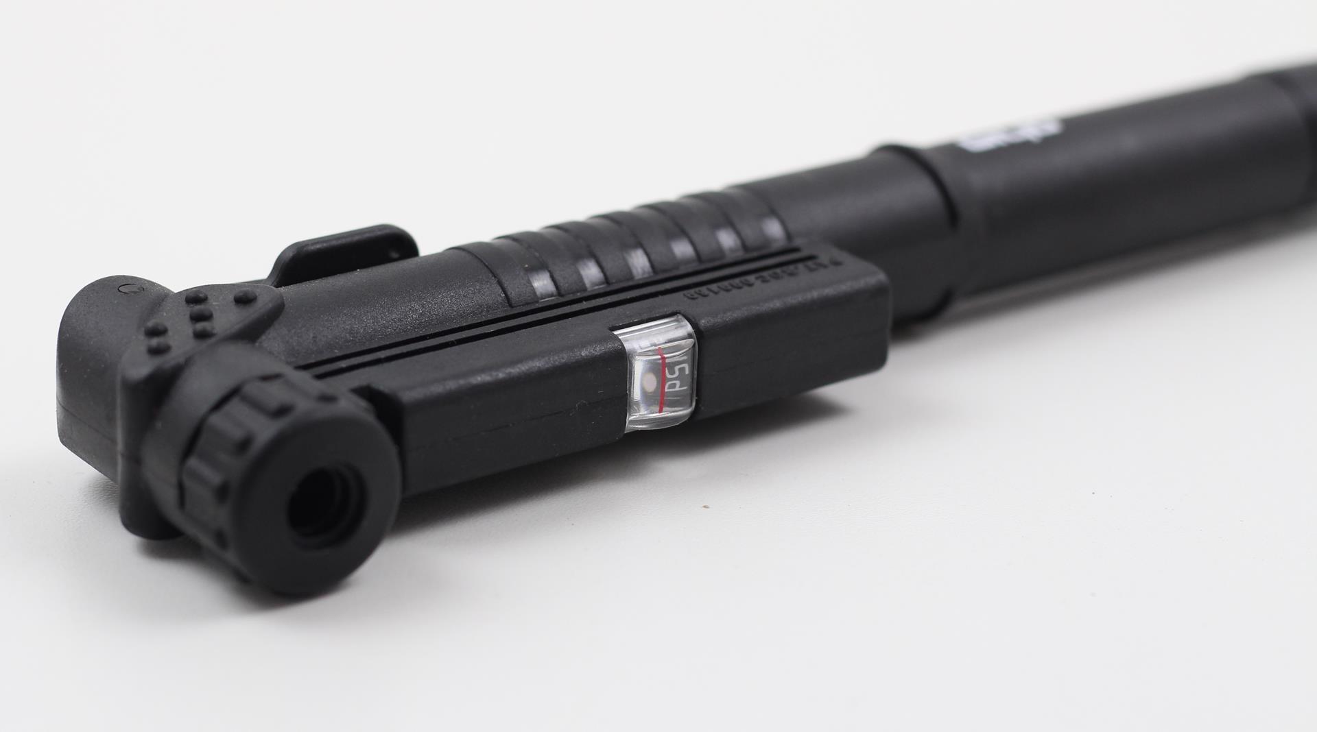 Mini Bomba Portatil para Bicicleta Giyo GP66 com Haste Telescopia até 100 psi com Manômetro