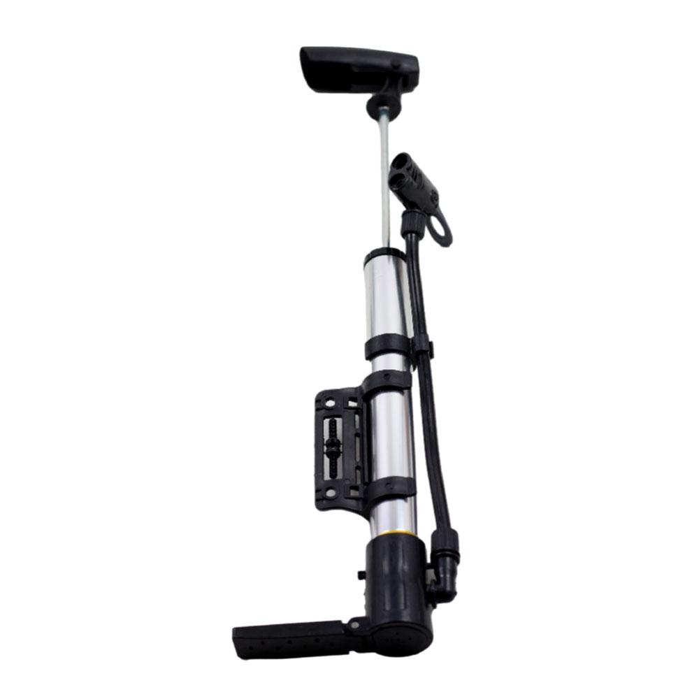 Mini Bomba Pump com Mangueira para Bicicletas Bico Duplo Serve Presta e Schrader 100psi
