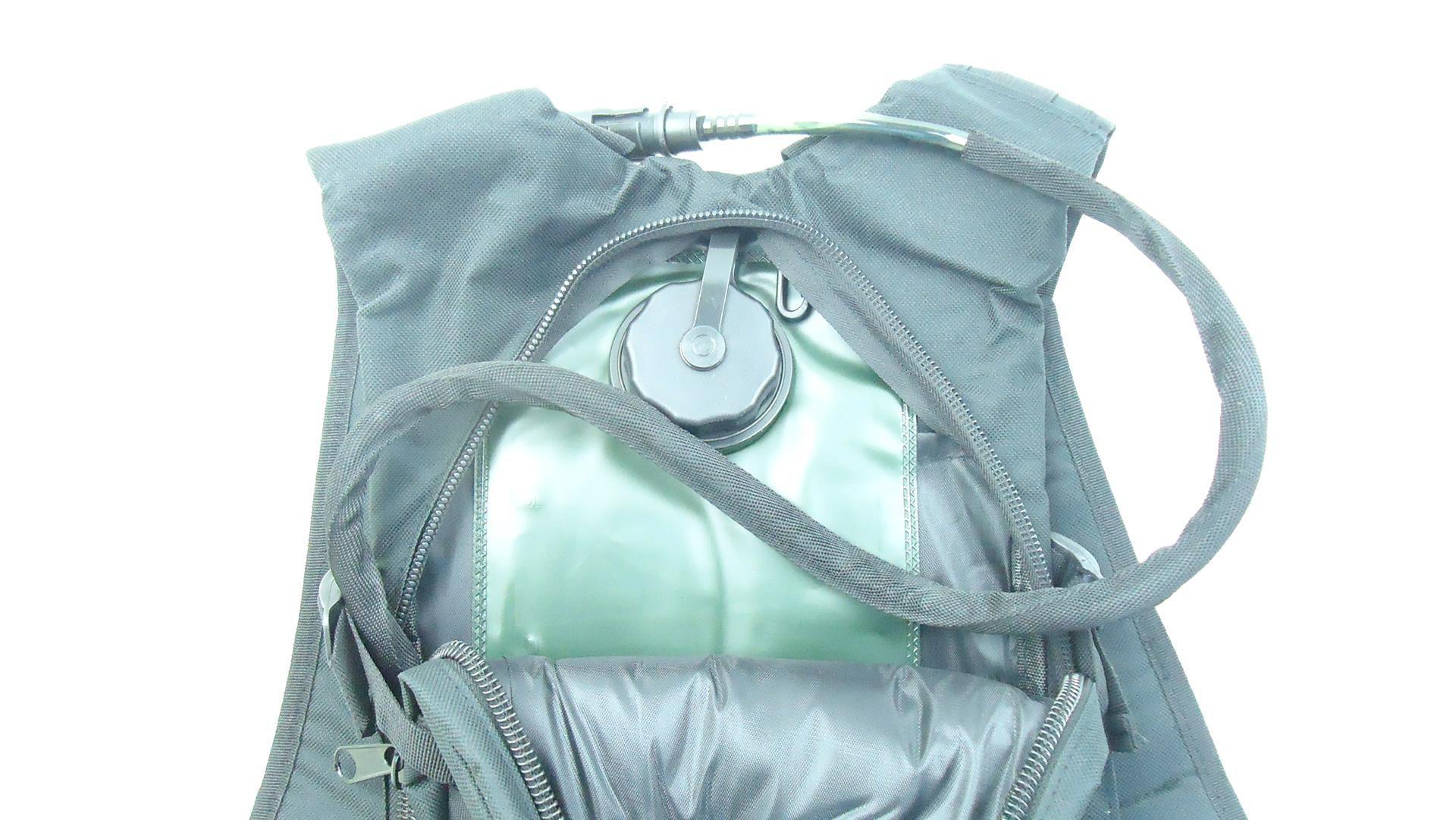 Mochila De Hidratação JWS B2 com Refil 3 Litros Para Água Cor Preta Tipo Camelbak