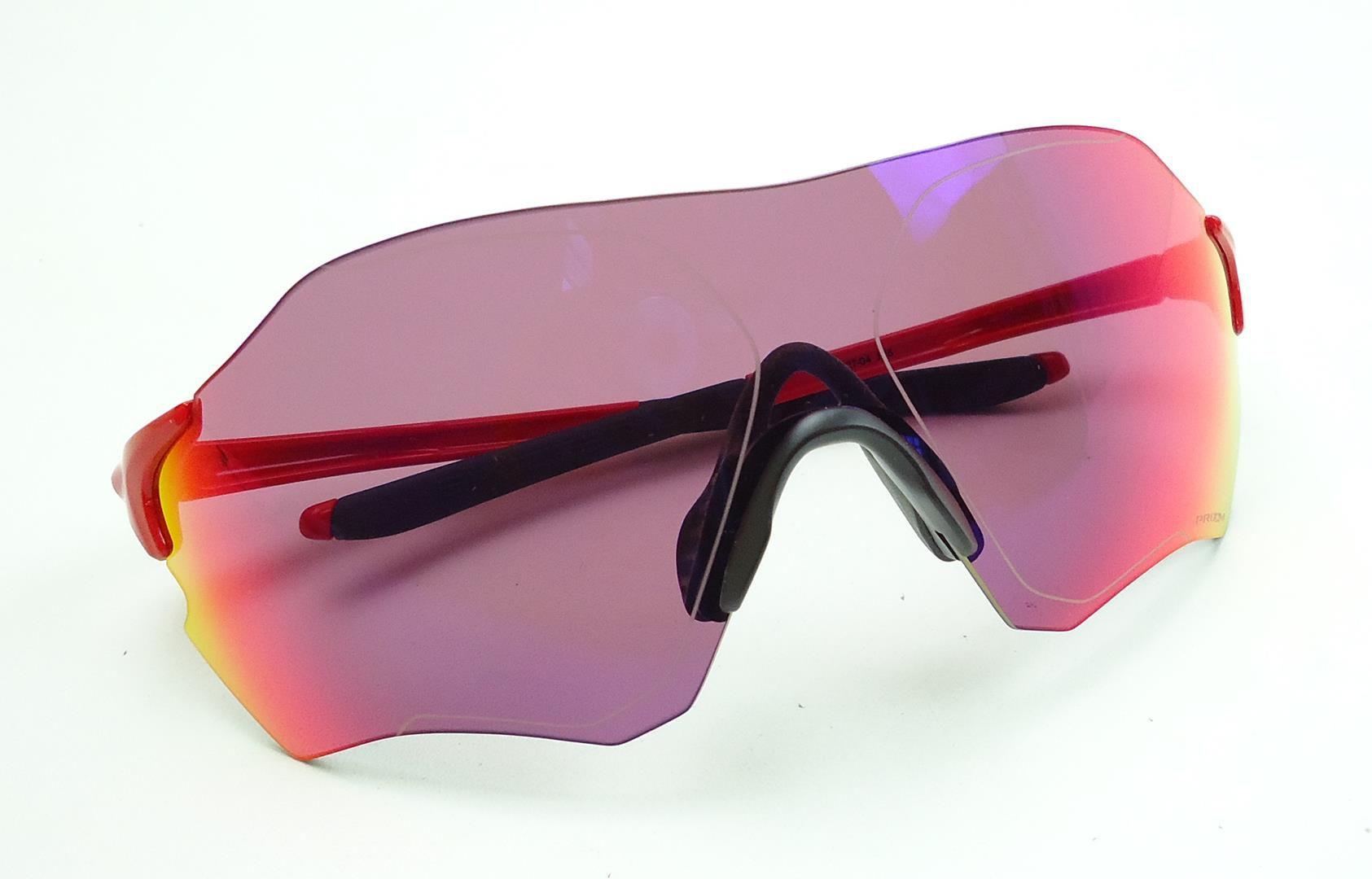 Óculos Oakley Evzero Path Cor Preto/Vermelho Lente Prizm Road