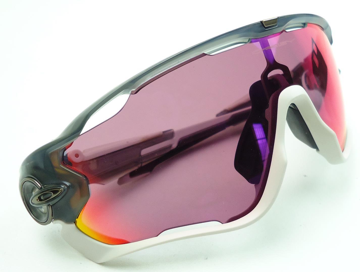 Óculos Oakley Jawbreaker Tour de France Cor Cinza/Branco Lente Prizm Road
