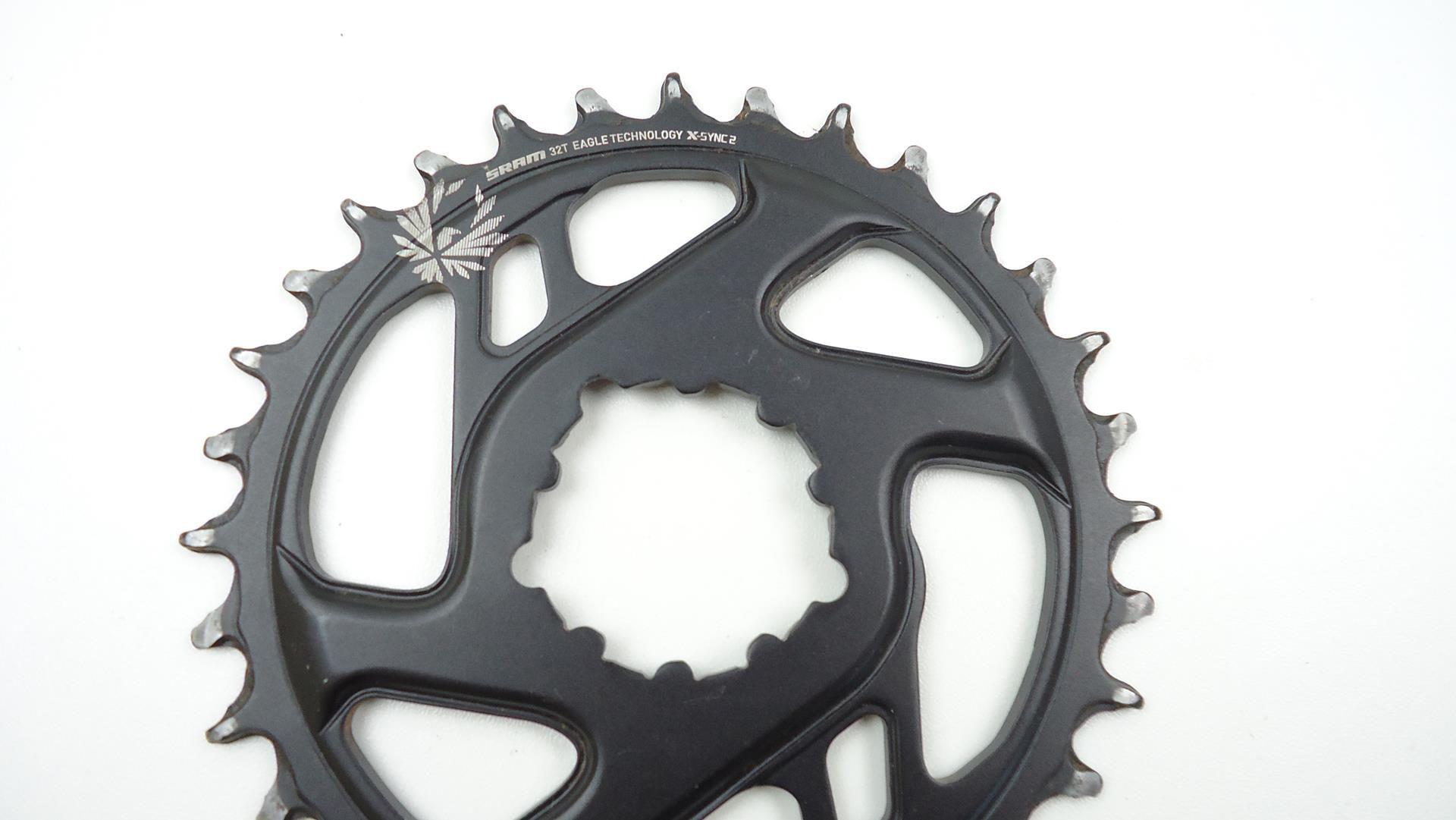Par de Coroas Bicicleta Sram GX Eagle 34 e 32 dentes Offset 3mm Boost Para Uso 1x12 XX1 X01 - USADO