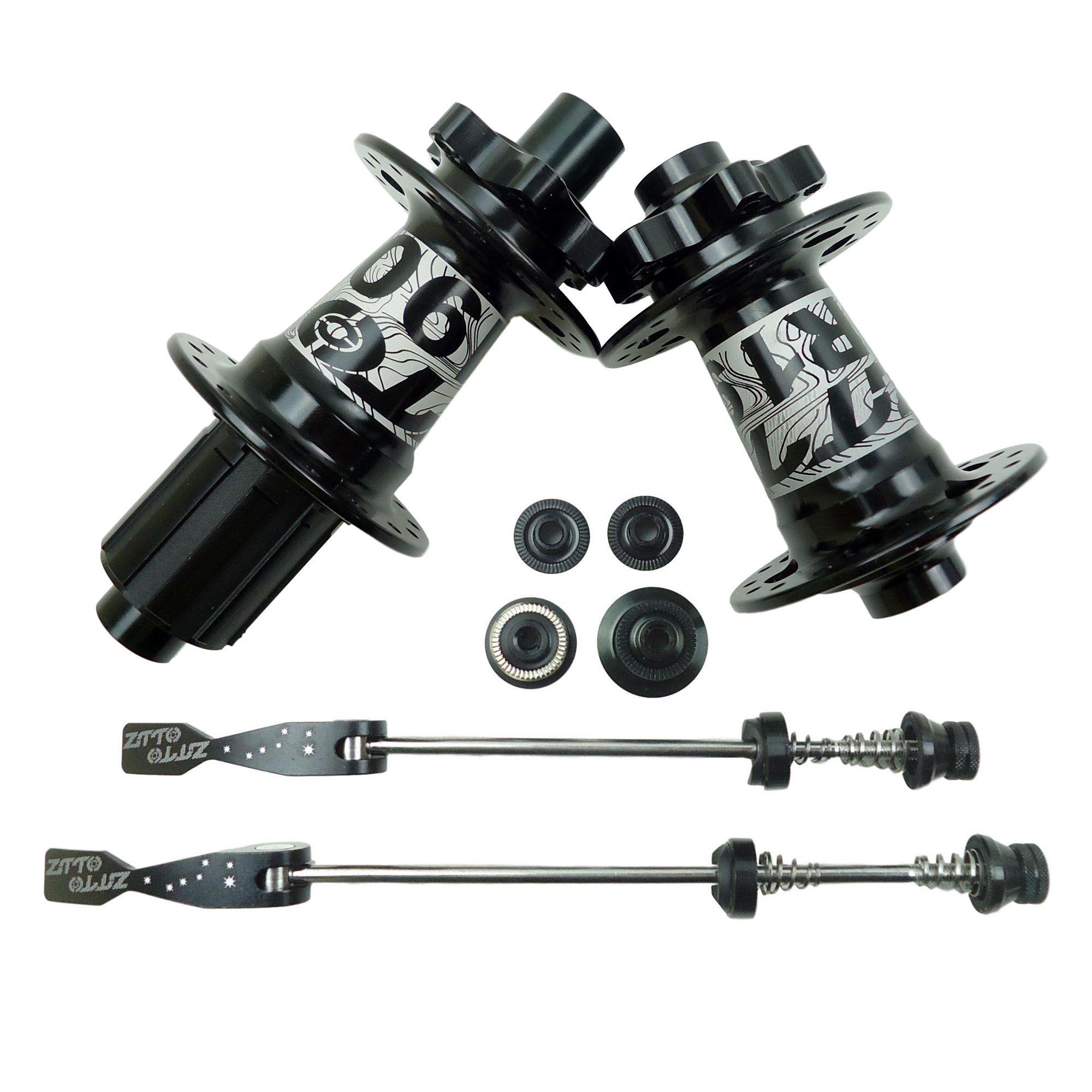 Par de Cubos ZTTO DR190 Shimano 32 Furos Eixo Normal ou 142mm Sistema Ratchet Igual DT Swiss