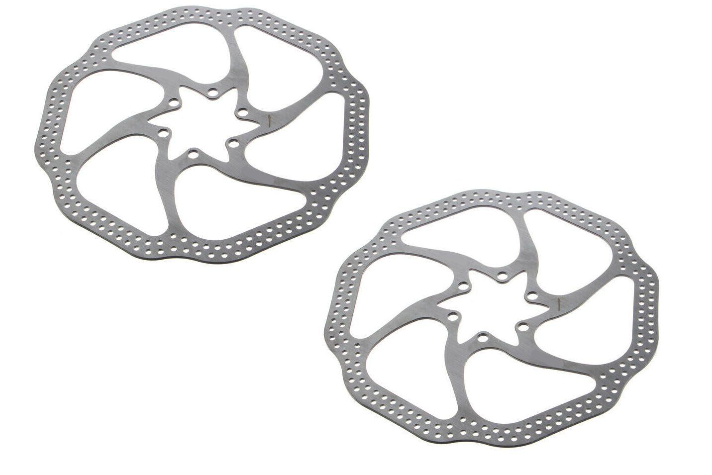 Par de Discos De Freio Rotor Absolute 160mm 6 Furos em Aço pra Bicicletas
