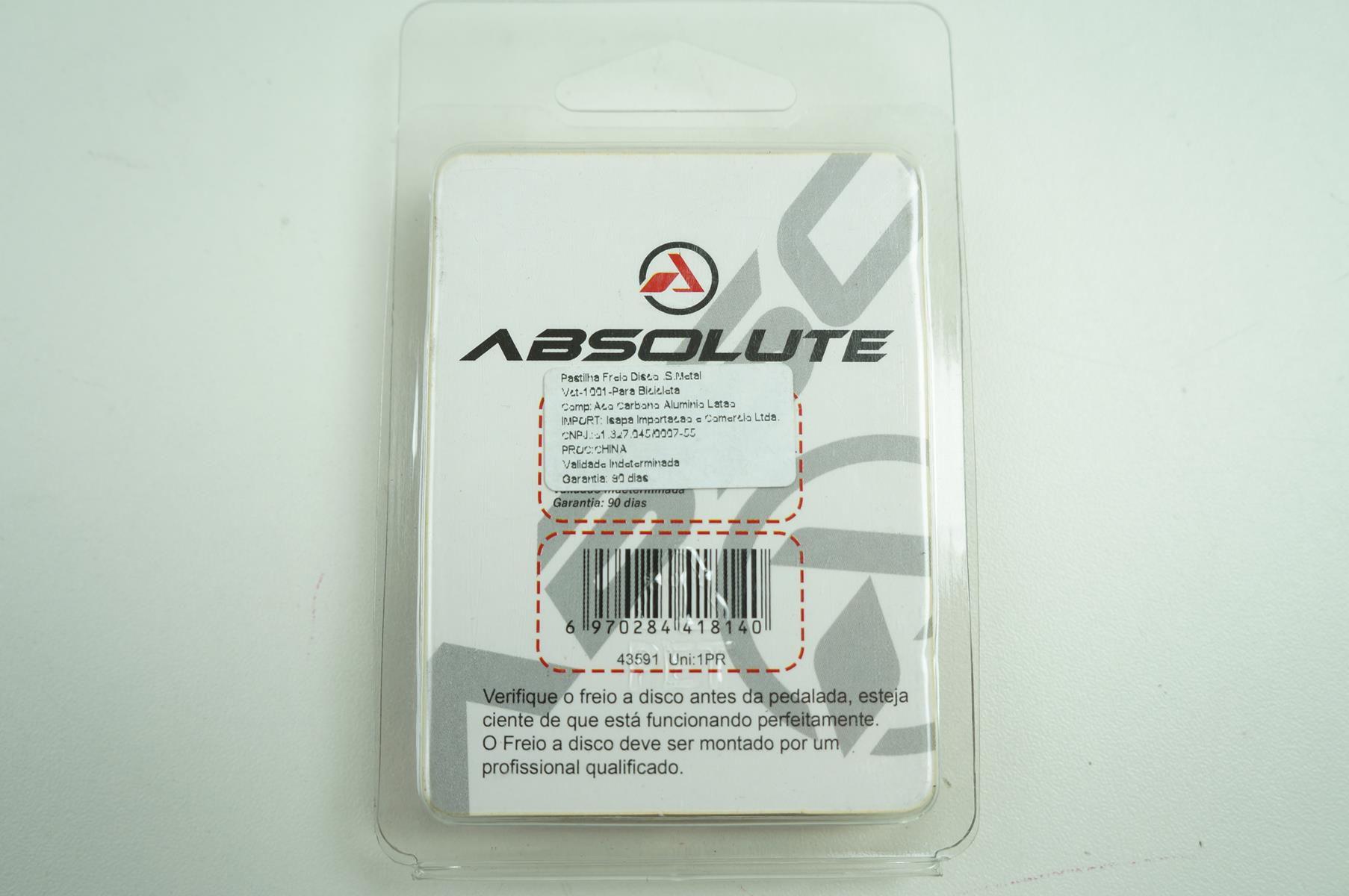 Par de Pastilha De Freio Disco Semi Metálica Absolute para Shimano M4000 M3000 M486 M485 M445 M315 MT200