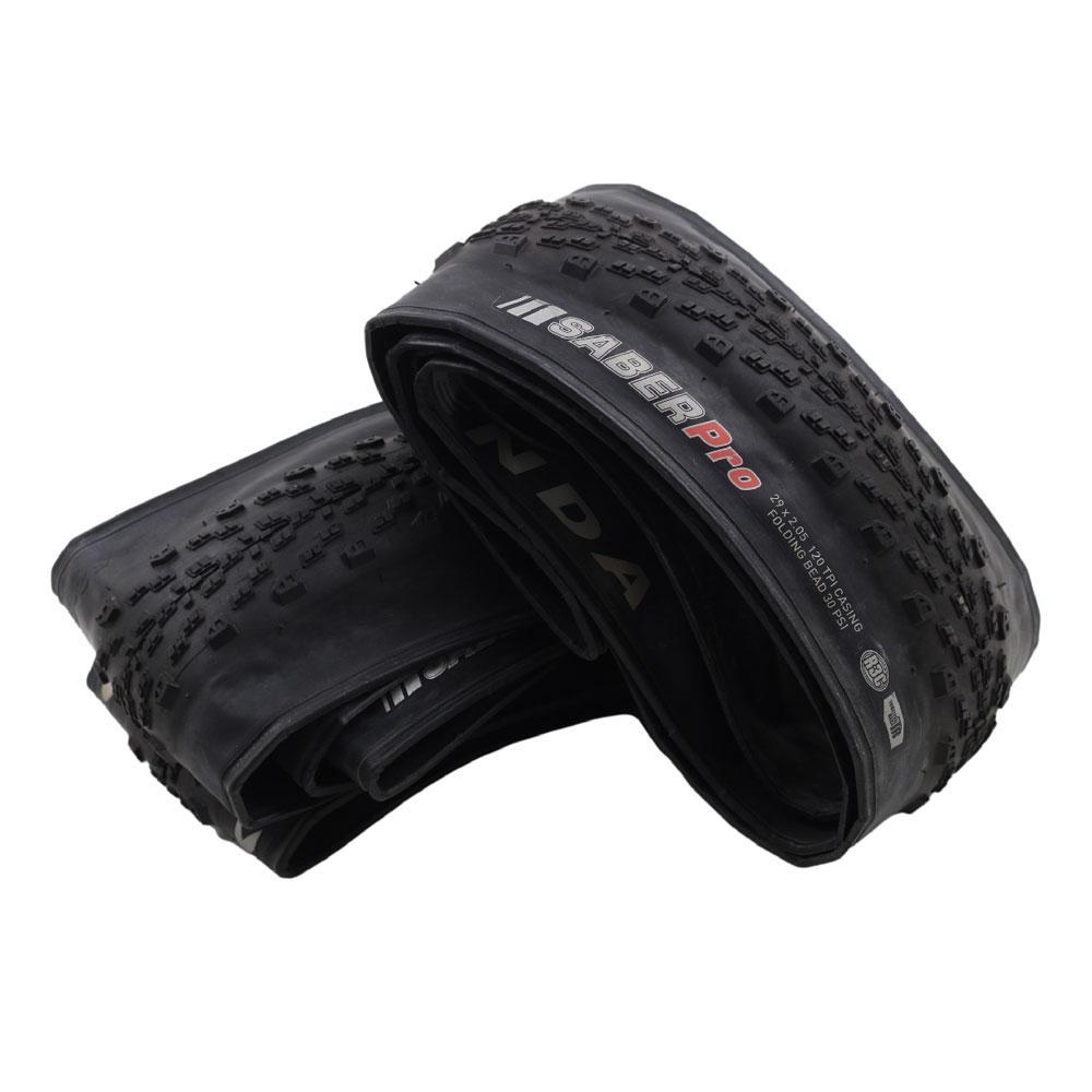 Par de pneus Pneu Bicicleta Mountain Bike Kenda Saber Pro R3C TR 29x2.05  Tubeless Super Leve - USADO