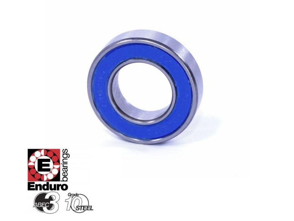 Par de Rolamentos Enduro 6802 LLB 15x24x5mm Para Rodas Cubos e Partes Bicicleta