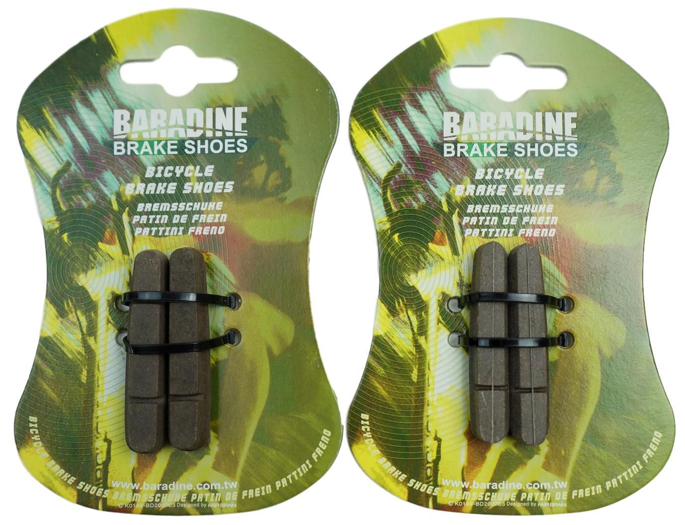 Par de Sapatas Freio Para Aros de Carbono Baradine 55mm Serve em Shimano
