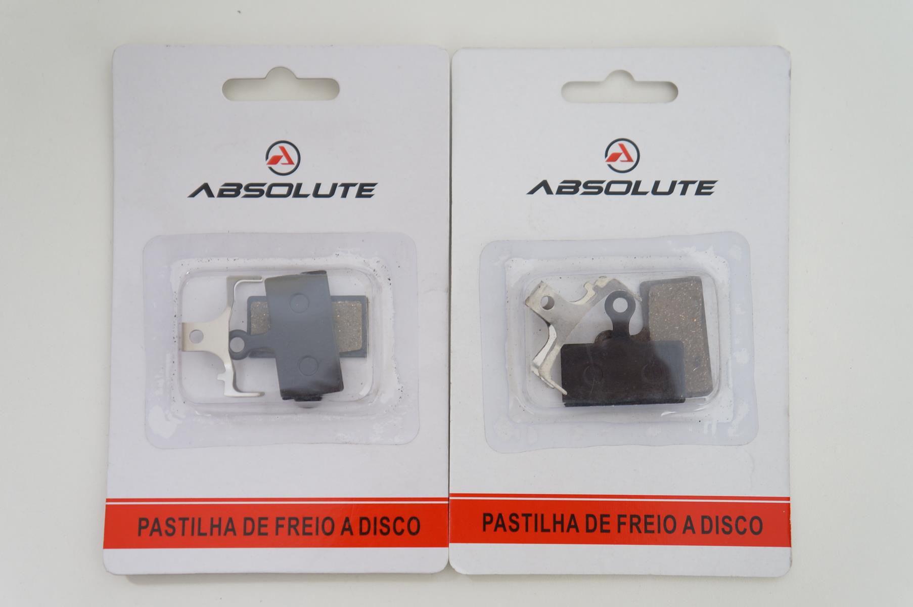 Par de Pastilhas Freio à Disco Absolute para Shimano SLX XT XTR M675 M785 M8000 M987