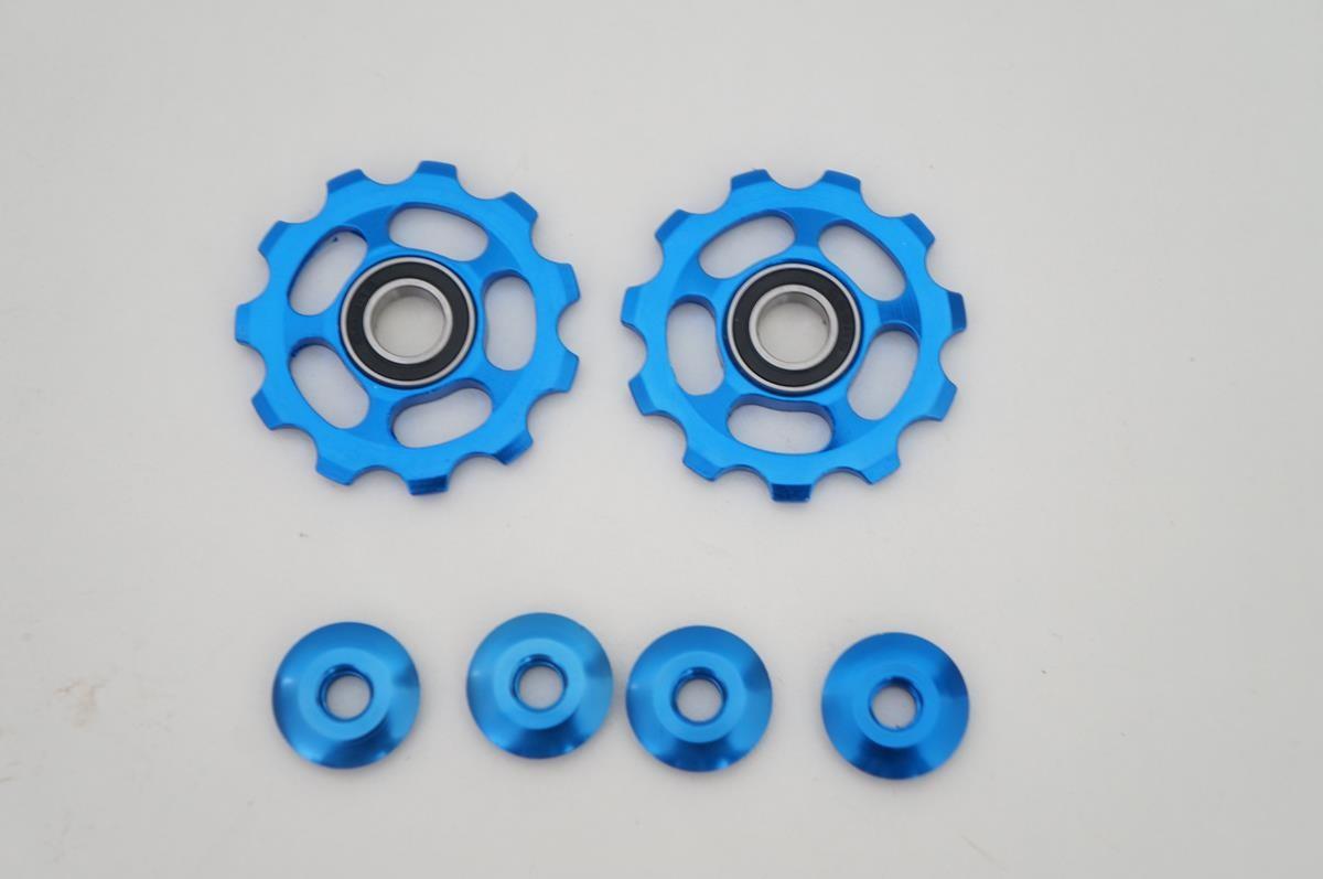 Par Roldanas Alumínio Rolamentos Azul Cambios Shimano Sram