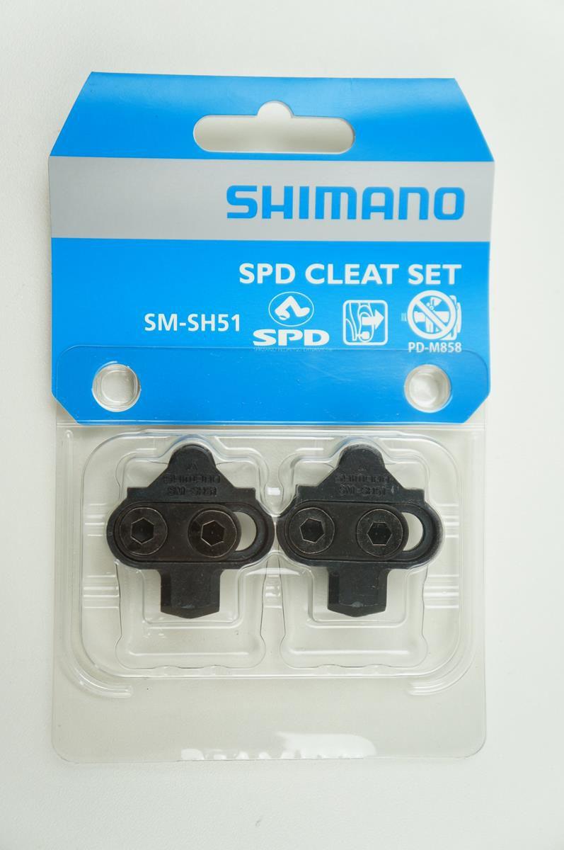 Par de Taquinhos Pedal Clip Shimano Sh51 Para Sapatilhas Mountain-Bike
