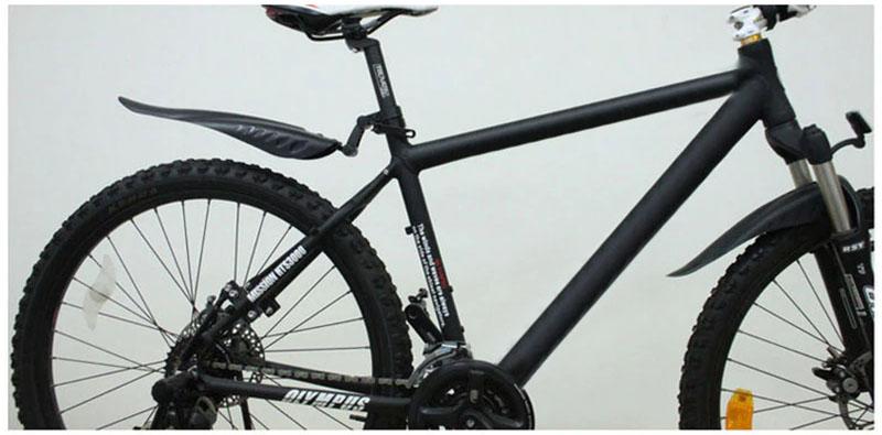 Paralamas Bicicleta Dianteiro e Traseiro JWS Bike MTB em Plástico cor Preto