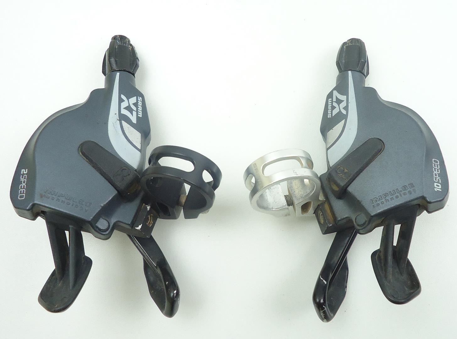 Passadores MTB Trigger Sram X7 2x10 10 velocidades Shifter - USADO