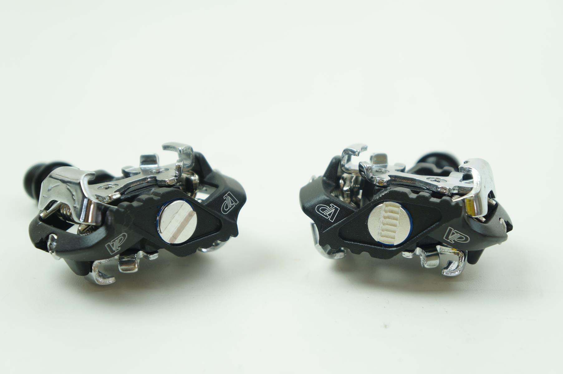 Pedal de Encaixe Clip MTB VP Components 152 Black Com Taquinhos Padrão Shimano