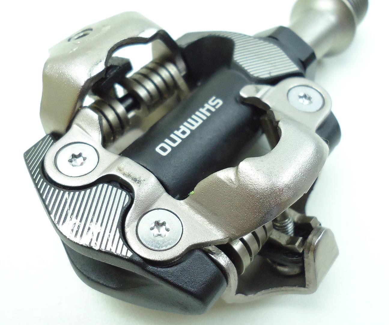 Pedal Encaixe Clip Bicicleta Mountain-Bike Shimano Xt M8100 Preto Com Taquinhos Sh-51 - USADO